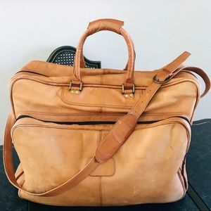Vintage Leather Luggage Travel Bag